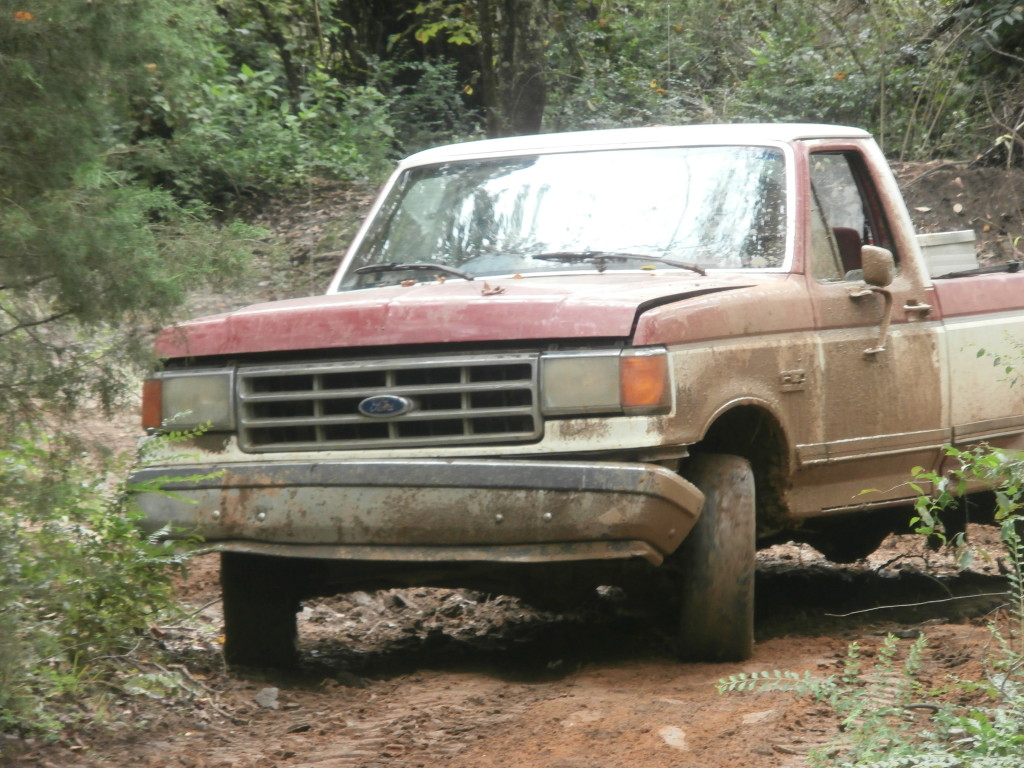 Dirty truck out of mud.