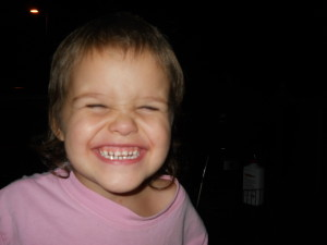 Funny faces of my grandaughters
