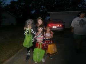 Happy Halloween with grandkids