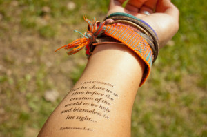 Temporary Designer Scripture Tattoos #armedwithtruth